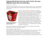 Veganes Bio-Sorbet mit noch mehr Frucht: die neue WASGAU Natur Bio-Frucht-Eis-Box