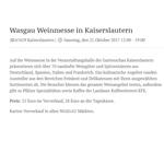 WASGAU Weinmesse in Kaiserslautern