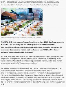Chef + Competence Academy bietet frische Ideen für Gastronomen