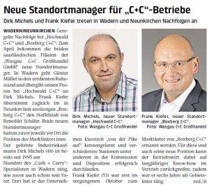 Neuer Standortmanager für Hochwald C+C