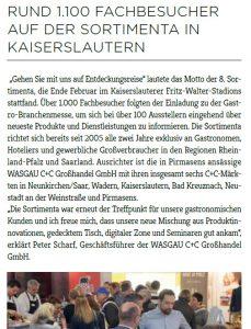 Rund 1.100 Fachbesucher auf der Sortimenta in Kaiserslautern