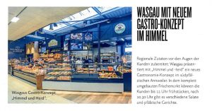 WASGAU mit neuem Gastro-Konzept im Himmel