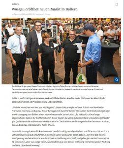 WASGAU eröffnet neuen Markt in Ballern