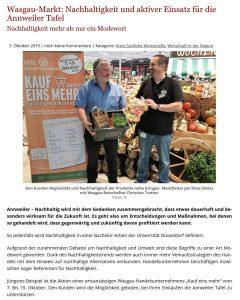Nachhaltigkeit und aktiver Einsatz für die Annweiler Tafel