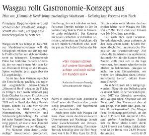 WASGAU rollt Gastronomie-Konzept aus