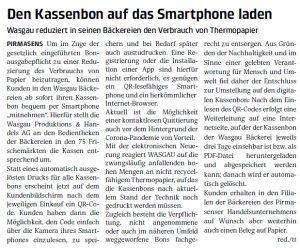 Den Kassenbon auf das Smartphone laden