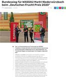 Bundessieg für WASGAU Markt Niederwürzbach beim Deutschen Fruchtpreis 2020