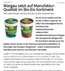 WASGAU setzt auf Manufaktur-Qualität im Bio-Eis-Sortiment