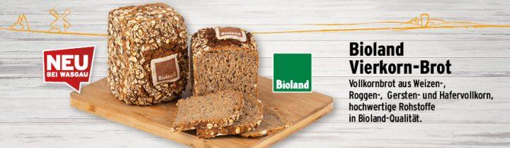 Neu an Ihrer WASGAU Bäckerei - das Bioland Vierkornbrot