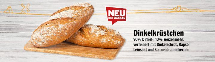 neues Sortiment bei der WASGAU Bäckerei, feines Dinkelrküstchen