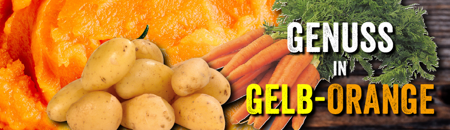 Genuss in Gelb-Orange