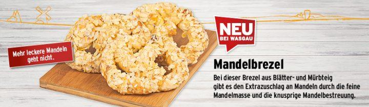 Neu bei WASGAU: die Mandelbrezel