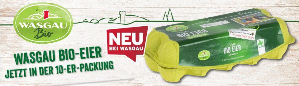 WASGAU Bio-Eier jetzt auch im 10er-Pack