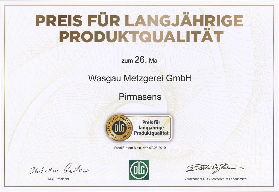 WASGAU Metzgerei – Langjährige Qualität zahlt sich aus