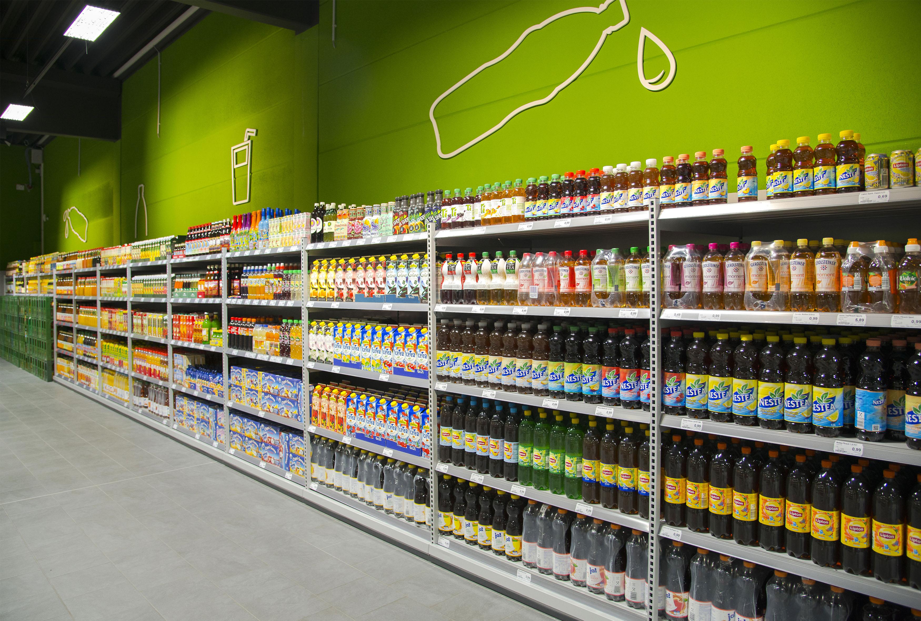 Getränkeabteilung – über 2.000 Produkte im Angebot