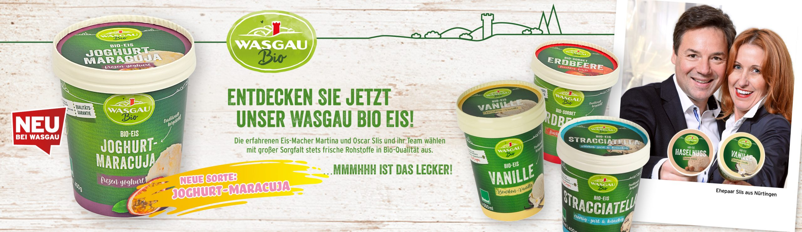 Neu: Das WASGAU Bio Eis Joghurt-Maracuja