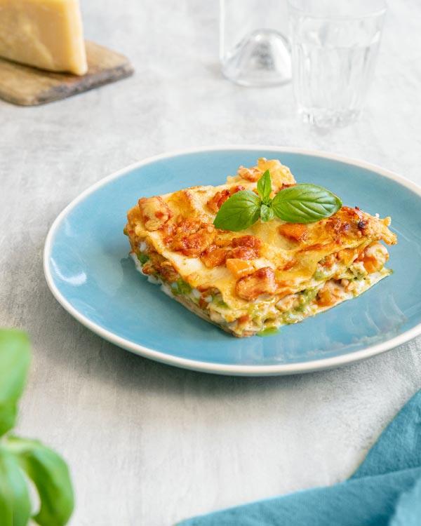 Lasagne mit Pesto Genovese und Hähnchenbrust - Rezept Bild
